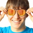 Young guy with glasses — Stock Photo