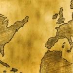 gammal karta — Stockfoto