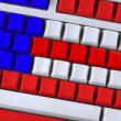 Keyboard like flag — Stock Photo