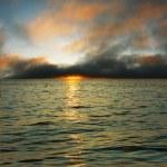 Sunset over sea — Stock Photo