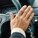 Driver's hand — Stock fotografie
