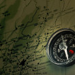 Map with compass — Stock Photo #8152190