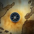 Map with compass — Stock Photo #8152712