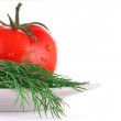 Tomato and dill — Stock Photo