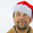 Smiling men with beard in santa's hat — Stock Photo #8153241
