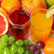 Fruits with glasses — Stock Photo