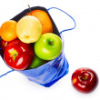 Shopping bag with fruits — Stock Photo