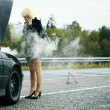 Woman near car — Stock Photo
