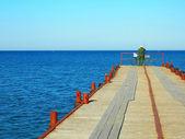 фишер и море — Стоковое фото