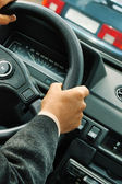 Driver's hands — Stock Photo