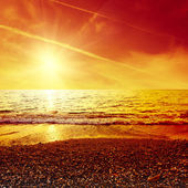 Sunset over sea — Foto Stock