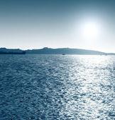 Sea harbor with ships — Stock Photo