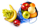 Bag with fruits — Stock Photo