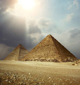 Giza pyramids — Stock Photo