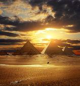 Giza pyramids — Stock Photo