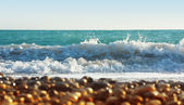 Sea with waves — Stock Photo