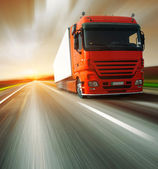 Truck on road — Stock Photo