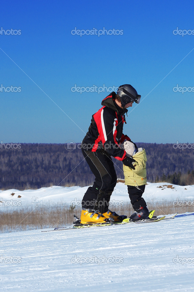 Riding father and son — Stock Photo #8151260