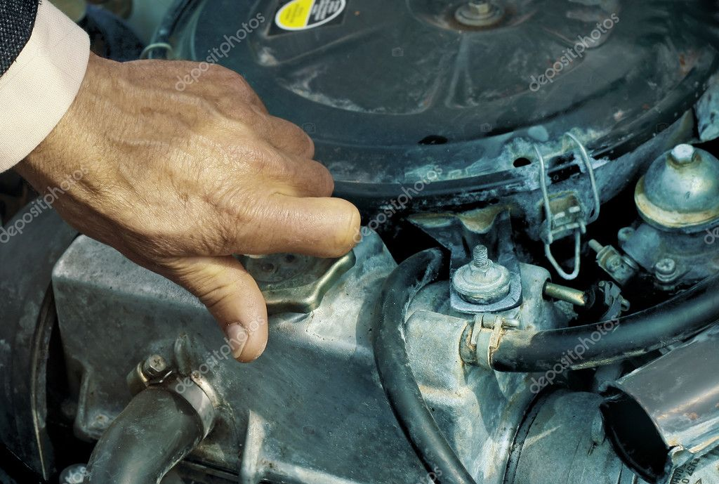 Repairing engine of a car — Stock Photo #8152000