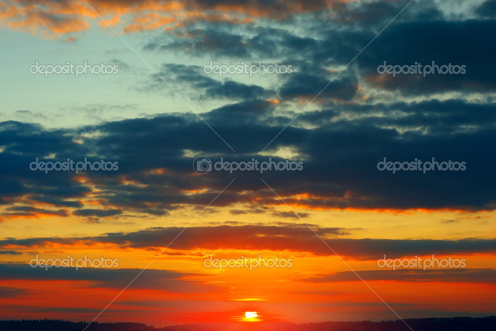Sunset clouds — Stock Photo #8156043