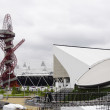 The London 2012 olympic park under construction — Stock Photo