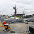 The London 2012 olympic park under construction - Stock Photo