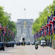 The Mall decorated with Union Jack flags, London, UK — Photo