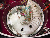 Spiral stairway in Fortnum & Mason department store — Stock Photo