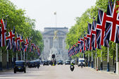 The Mall decorated with Union Jack flags, London, UK — Stock Photo