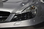 Sports car headlight — Stok fotoğraf