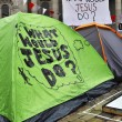 Stock Photo: Occupy London encampment at St Paul's Cathedral on October 27, 2011