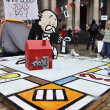 Occupy London encampment at St Paul's Cathedral on October 27, 2011 — Foto de Stock