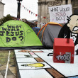 Occupy London encampment at St Paul's Cathedral on October 27, 2011 — Stock Photo