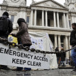 Occupy London encampment at St Paul's Cathedral on October 27, 2011 — Foto Stock