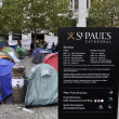 Occupy London encampment at St Paul's Cathedral on October 27, 2011 — Stockfoto