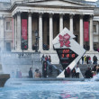 Royalty-Free Stock Photo: The countdown to the Olympics on Trafalgar Square  reads 222 days