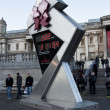 The countdown to the Olympics on Trafalgar Square  reads 222 days — Foto de Stock