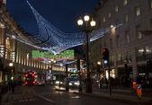 Christmas decorations in Regent street, London — Stock Photo
