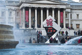 The countdown to the Olympics on Trafalgar Square reads 222 days — Stock Photo
