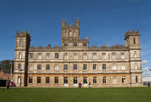 Highclere Castle which features as Downton Abbey — Stok fotoğraf