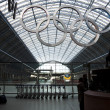 Olympic rings at St Pancras station — Stock Photo #9386490