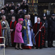 Stock Photo: Queen Elizabeth II marks Commonwealth Day at Westminster Abbey