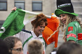 St Patrick's Day Parade and Festival in London, March 18, 2012 — 图库照片