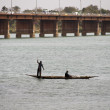 Stock Photo: Bozo fishermen in Bamako, Mali