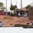 Stock Photo: Bozo village outside Bamako, Mali