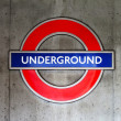 London underground sign — Foto Stock