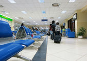 Bamako-Sénou airport lounge — Stock Photo