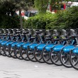 Stock Photo: Barclays bicycles in London, UK