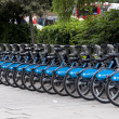 Barclays bicycles in London, UK — Stock Photo