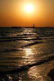 Vackra marinmålning vid solnedgången — Stockfoto